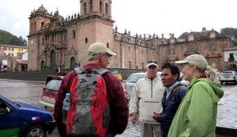 our guide Ayul takes us on Cusco city tour