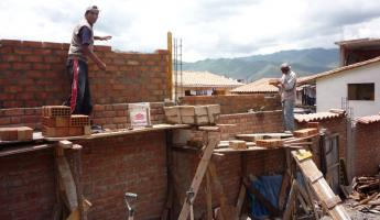 Raising the height of the outside Mantay shelter wall