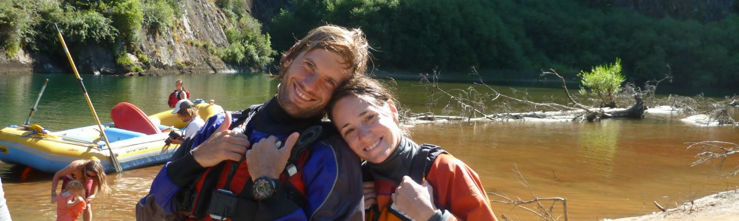 Loving every minute of our rafting trip!
