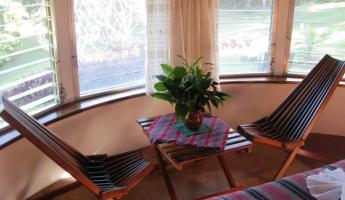The small seating area in our cabana