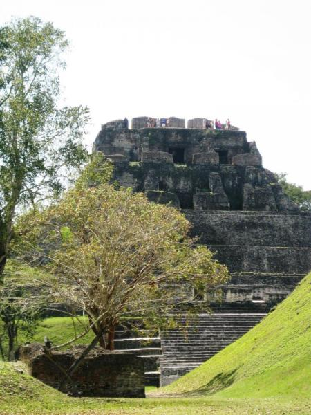 Entering the main complex at Xunantunich