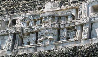 Friezes decorating El Castillo