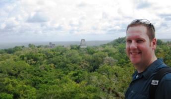 Incredible view from the top of Temple IV in Tikal