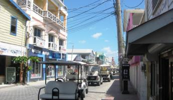 Quaint streets of San Pedro..watch out for the golf carts!