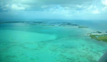 Incredible views below as we head to Belize City