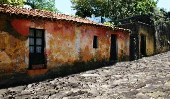 Wander historic streets in Colonia, Uruguay