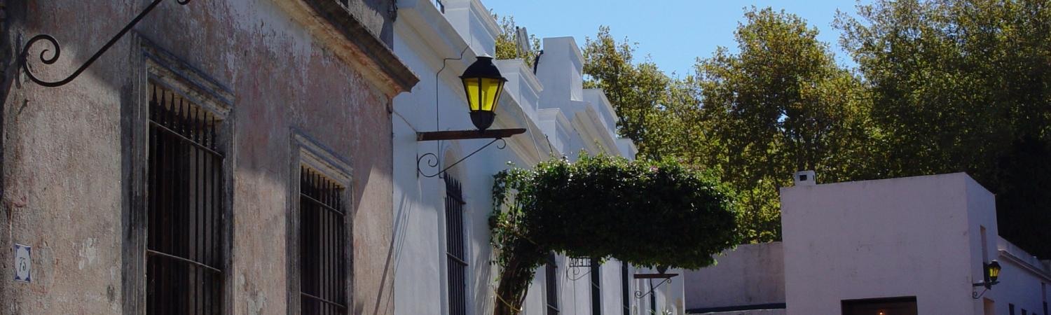 Street-side view of Historic Colonia del Sacramento, Uruguay