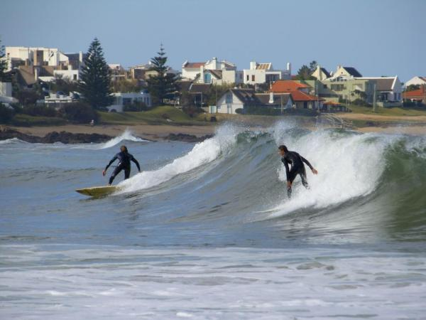 Surfers at La Barra