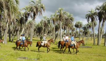 Riders on horseback in Uruguay