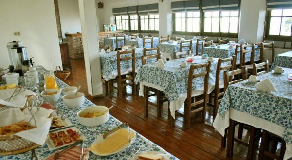 Enjoy the daily breakfast buffet overlooking the river