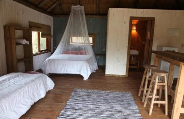 Cabanas offer comfortable accommodations