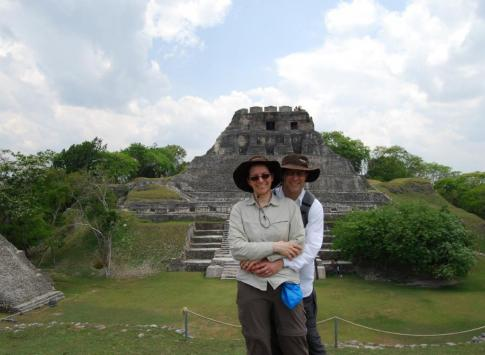 Touring the ruins at Xunantunich