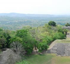 View from the Pyramid-Guatemala Border-Xunantunich