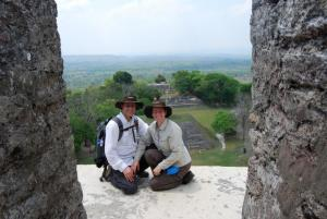 Top of Pyramid in Xunantunich