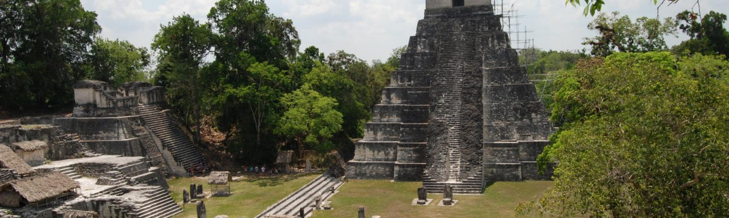 View of the Grand Plaza from Temple II-Tikal