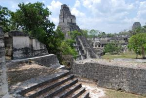 View of Temple I from North Acropolis-Tikal
