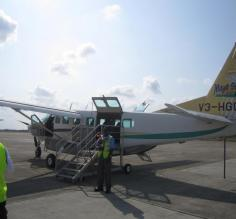 The plane we took from Belize City to Dangria.