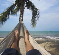 Relaxing in the hammock at Hamanasi