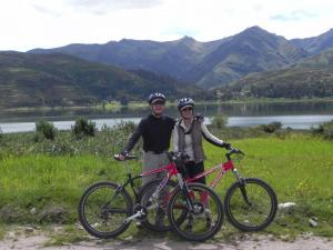 Biking around Lake Piuray