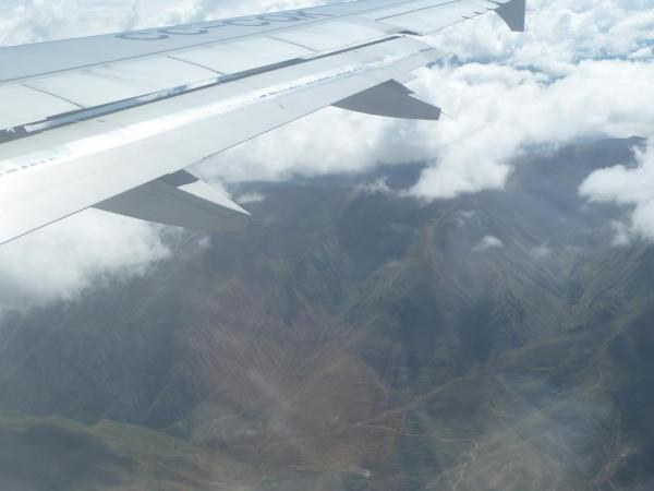 Flying into Peru