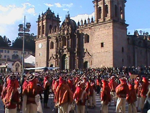 Children dancing in front of La Catedral.