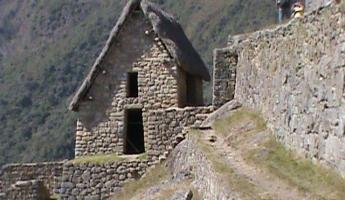 Thatched house at Machu Picchu