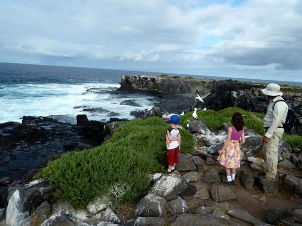 My family explores the Galapagos