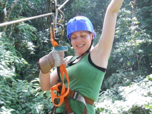 Melissa on the Canopy Tour