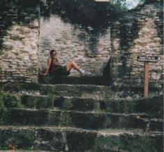 Me on the Queen\'s throne, Tikal