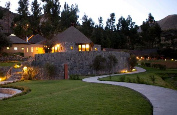 Well manicured grounds of Colca Canyon Lodge