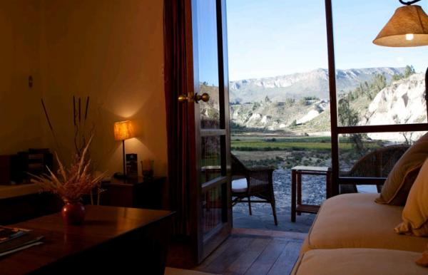 Rooms have wonderful views of the valley