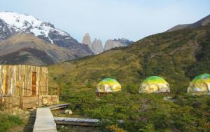 EcoCamp dome tents in Torres del Paine on Patagonia tour