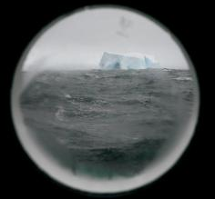 Iceberg out the porthole of our cabin
