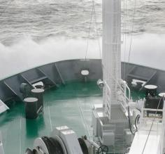 Crashing waves in the Drake Passage (and this was mild!)