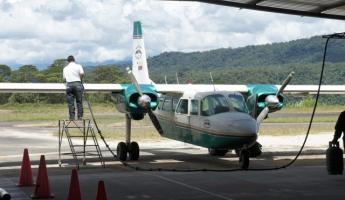Our plane at Shell - to Kapawi