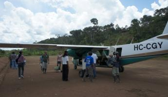 Landing strip in Achuar community