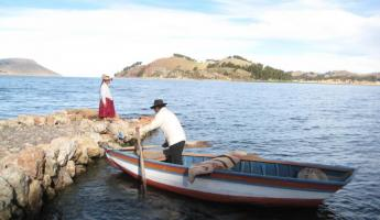Our host and hostess on Ticonata Island - Lake Titicaca