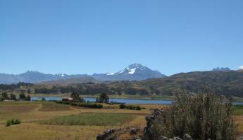 View from our bikes - Lake Piuray - Chinchero
