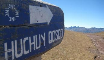 "Over and down to Huchuy Qosqo (""Little Cusco"")"