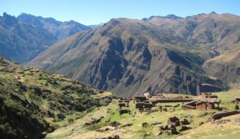 "Our campsite for the night - Huchuy Qosqo (""Little Cusco"")"