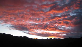 Sunrise over the Urubamba Valley