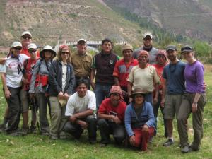 Our cooks and horseman, and one horsewoman - Urubamba Valley