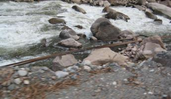 Lost railroad ties from the mudslide of 2009