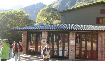 Sanctuary Hotel and Machu Picchu shuttle bus stop