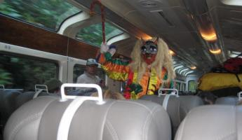 Creepy trickster clown show on train ride back from MaPi