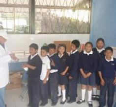6Th grade students with teacher