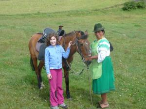 Getting ready to ride horses in Ecuador!