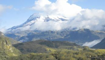 The beautiful Antisana Volcano can be viewed on an Ecuador tour to Papallacta Hot Springs