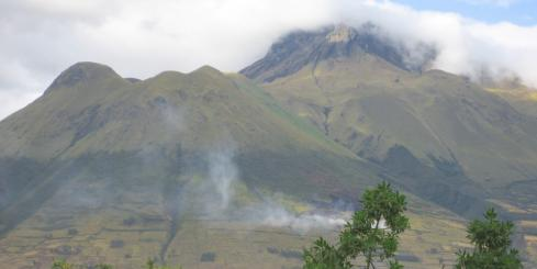 A volcano seen during an Ecuador tour