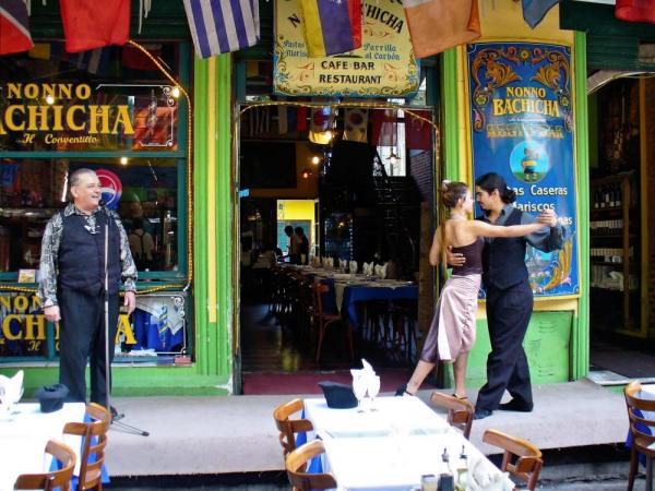 A tango show in Buenos Aires